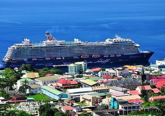 Cruise ship in the Caribbean
